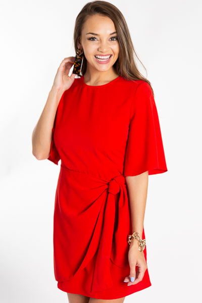 Tie the Knot Dress, Red