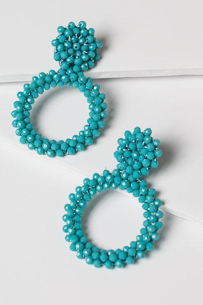 Mermaid Earrings, Turquoise
