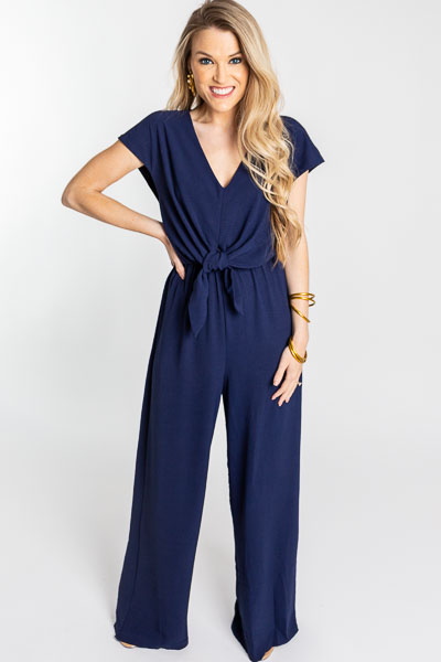 Knot Possible Jumpsuit, Navy