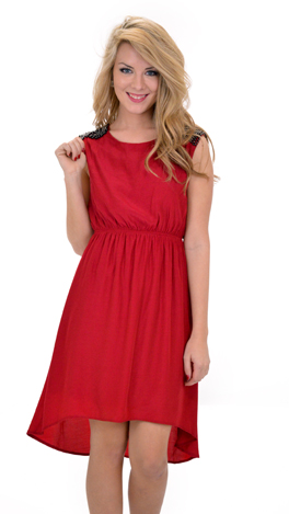 Blakely Dress, Red