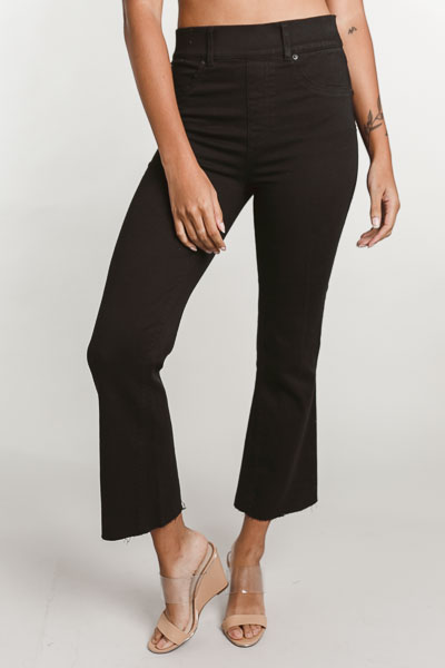 SPANX Cropped Flare Jeans, Black