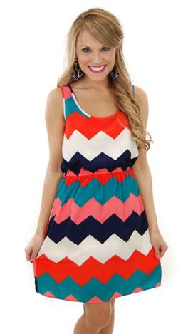 Shades of Chevron Dress