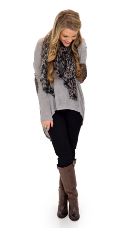 Bend and Snap Top, Gray