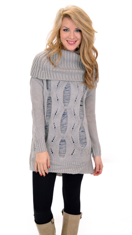 Roll on Sweater, Gray