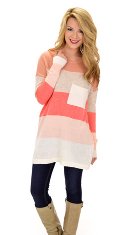 Pacific Sweater, Coral Pink