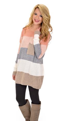 Pacific Sweater, Peach Mocha