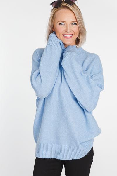Azure Mock Sweater