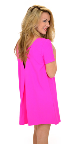 Hide and Chic Dress, Pink