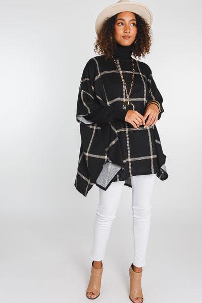 Checkered Box Sweater, Black