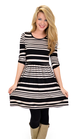 Hoover Dress, Black