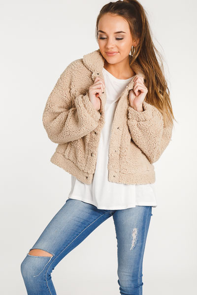 Teddy Cropped Jacket