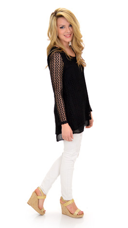 Just for Girls Top, Black