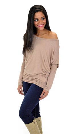 Jersey Shore Dolman, Taupe