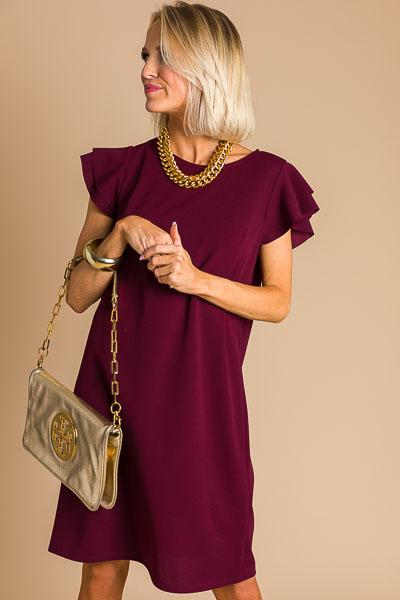 Spring Sonnet Dress, Burgundy