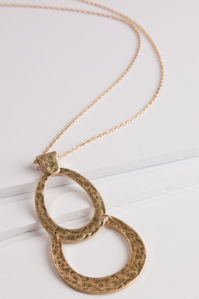 Double Dip Gold Necklace