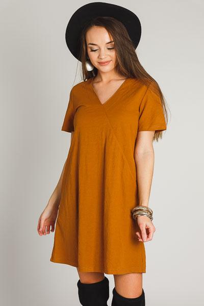 Butterscotch Pocket Shift Dress