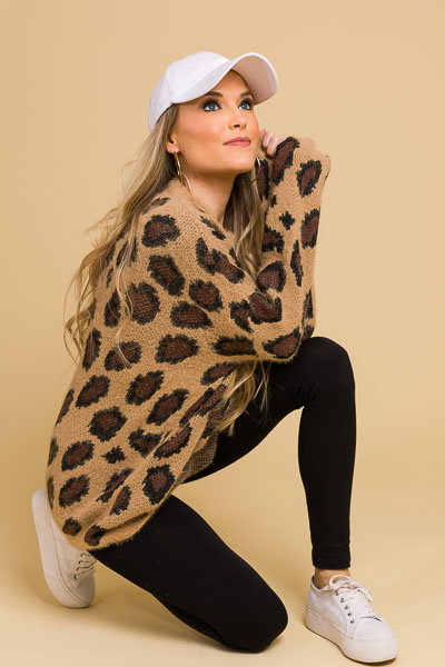 Caramel Cheetah Sweater