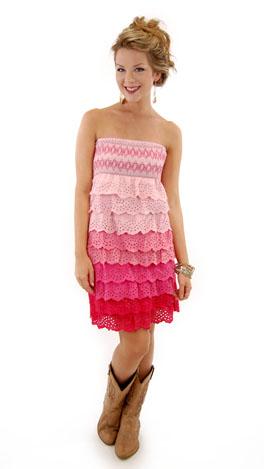 Sandy Cay Dress, Pink