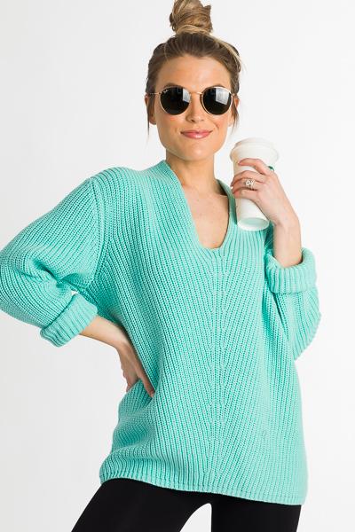 Spring Breaker Sweater, Mint