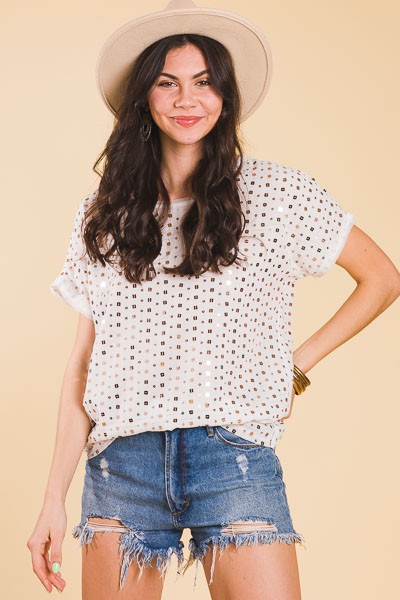 Shine on Sequin Blouse