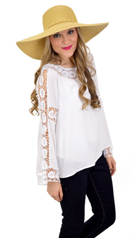 Crochet Candy Top, White