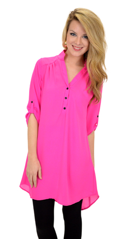 Go with it Tunic, Pink