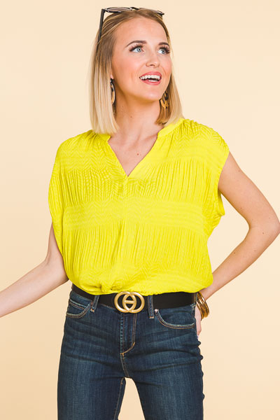 Neon Smocked Top