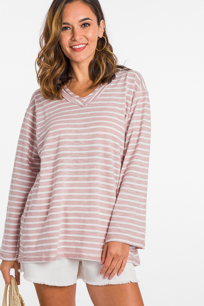 Stitched Stripes Top