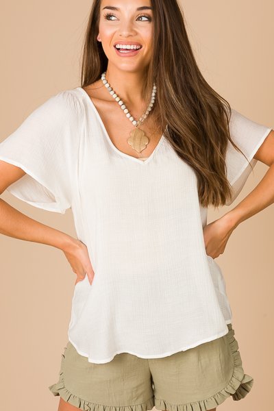 Airy Blouse, Off White
