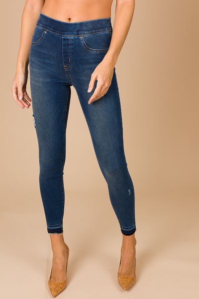 Distressed Skinny Jean, Medium Wash