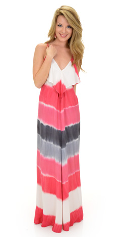 Tie-dyed Down Maxi