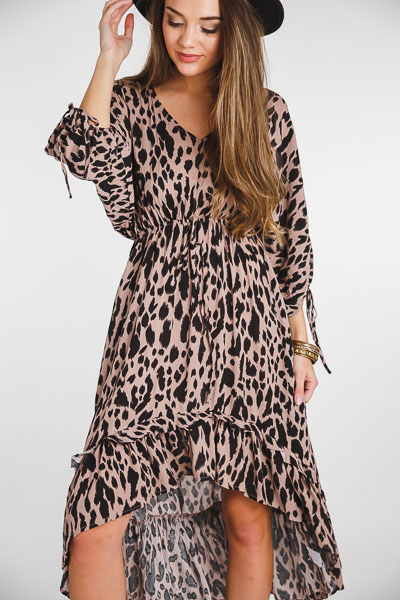 Leopard High Low Midi