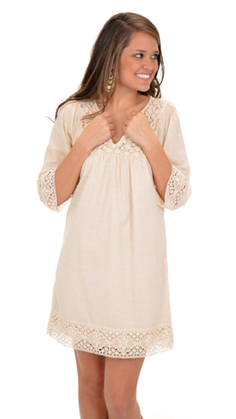 Sophia Dress, Cream
