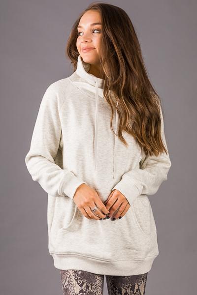 Criss Cross Pullover, Oatmeal