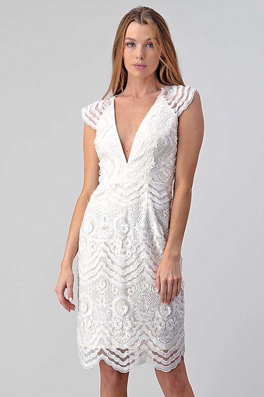 Bridal Babe Midi, White