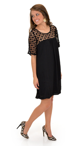 Sydney Shift Dress, Black