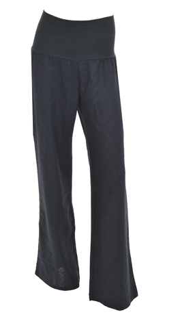 Roll Over Linen Pant, Navy