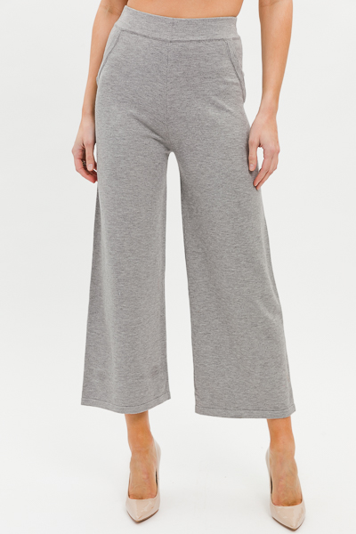 Fab Sweater Knit Pants, Grey