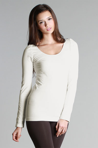 Famous Long Sleeve Top Ivory