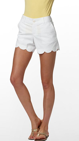 Lilly Pulitzer White Buttercup Shorts