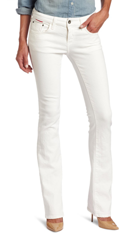 White Curvy Slim Boot Jeans