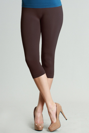 Magic Leggings, Brown (Cropped)