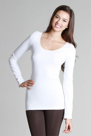 Famous Long Sleeve Top White