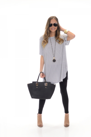 Tucker Jersey Tunic, Stripe
