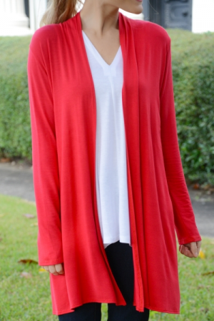 Koda Cardigan, Red