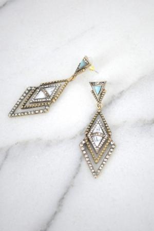 Roaring Triangles Earring