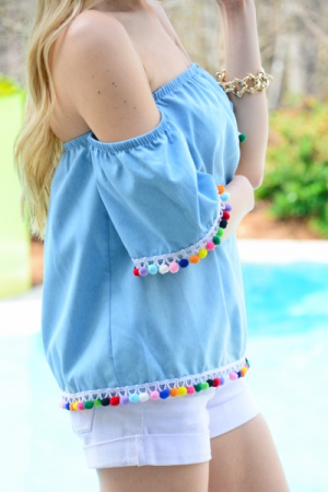 Sprinkles Off Shoulder Top
