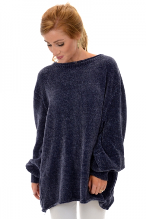 Lilah Chenille Pullover, Steel