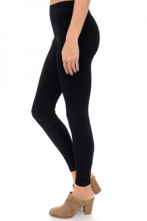 Ribbed Leggings, Black