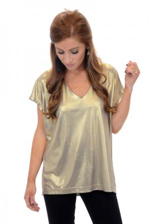 Glamour Gold V Neck